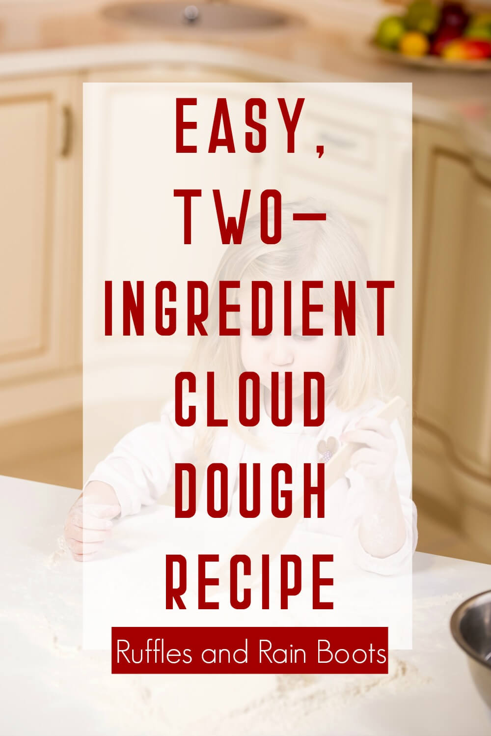 Flour Cloud Dough Recipe an Sensory Play Ideas