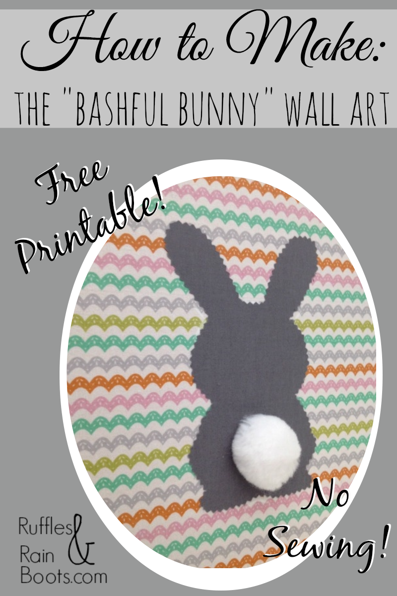 """Spring and Easter Decorations 2014 – A """"No Sew"""" Bashful Bunny"""