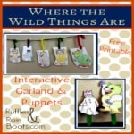 Where the Wild Things Are, free printable, crafts and activities for toddlers