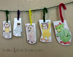 From Ruffles And Rain Boots: Where the Wild Things Are, free printable, play garland, story garland