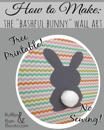 From Ruffles and Rain Boots: no sew Easter wall art