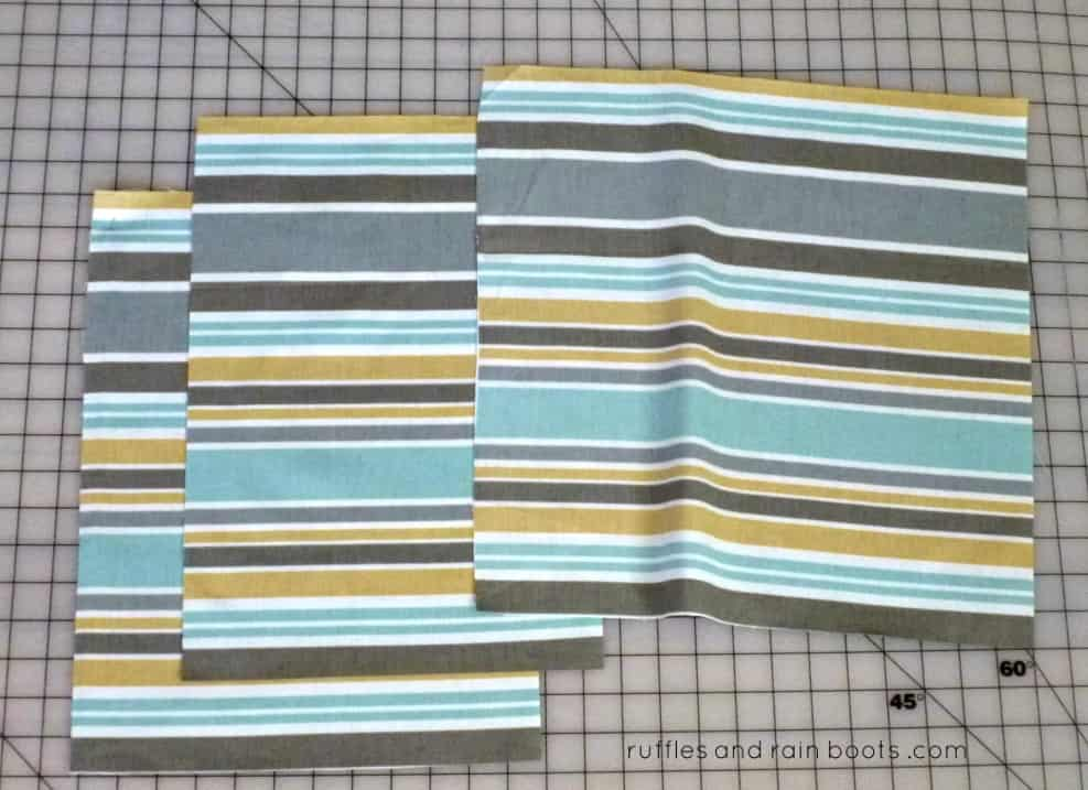 Measure-and-cut-fabric-for-simple-pillow-cover-DIY