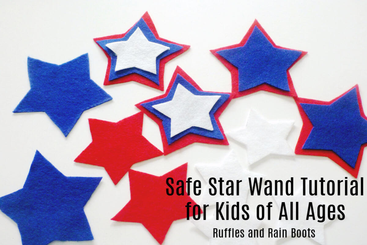 Easy Safe Star Wand Tutorial for kids and 4th of July
