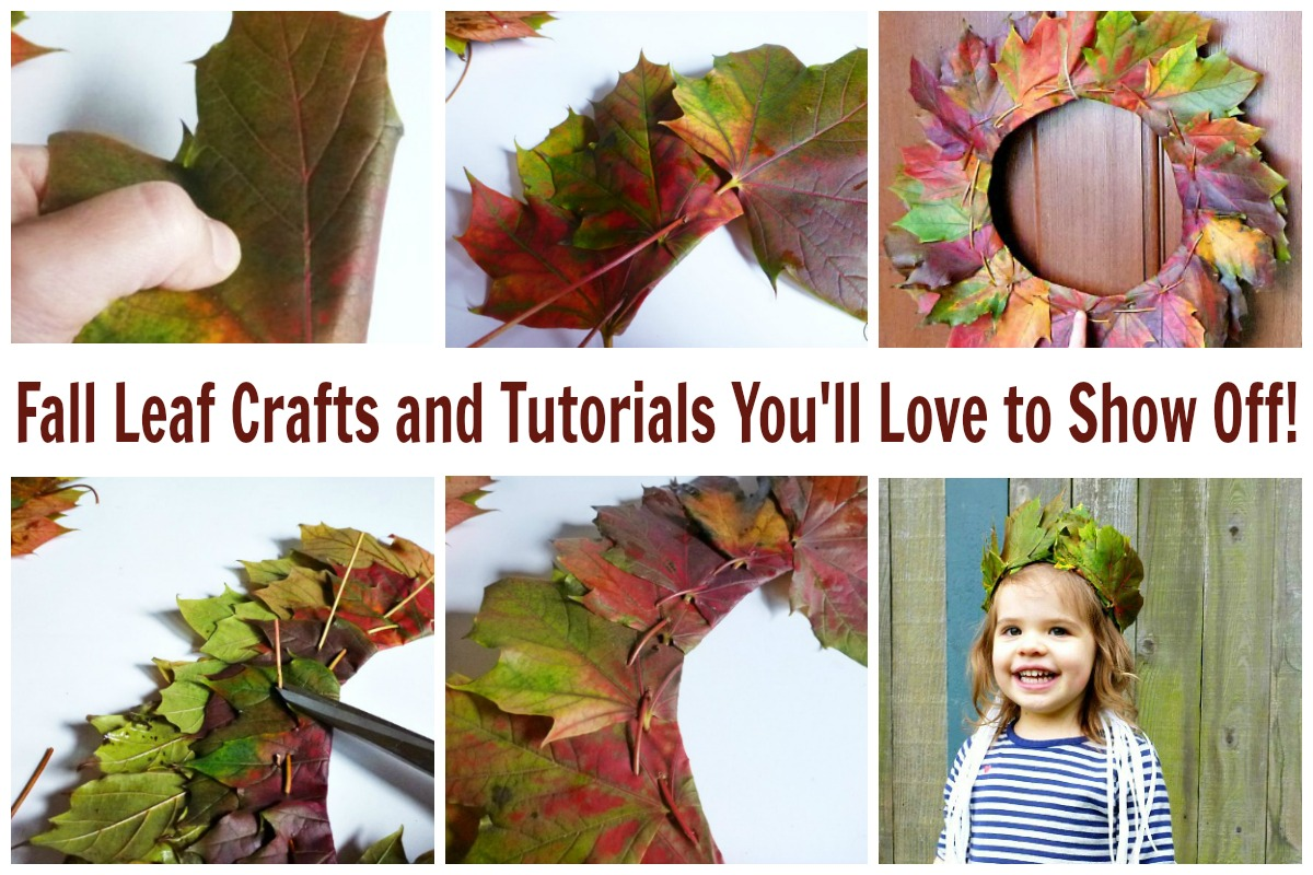 fall leaf crafts - leaf crowns and leaf wreaths for Fall
