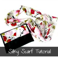 Silk Scarf Tutorial by Ruffles and Rain Boots