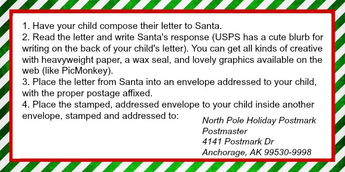 Letter To Santa Address | Ruffles and Rain Boots