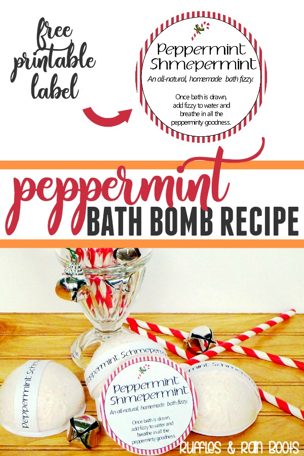 Make these Peppermint Bath Bombs with natural ingredients for your self or as gifts. #Peppermint #bathbomb #beautyrecipes #diybeauty #essentailoils #EOs