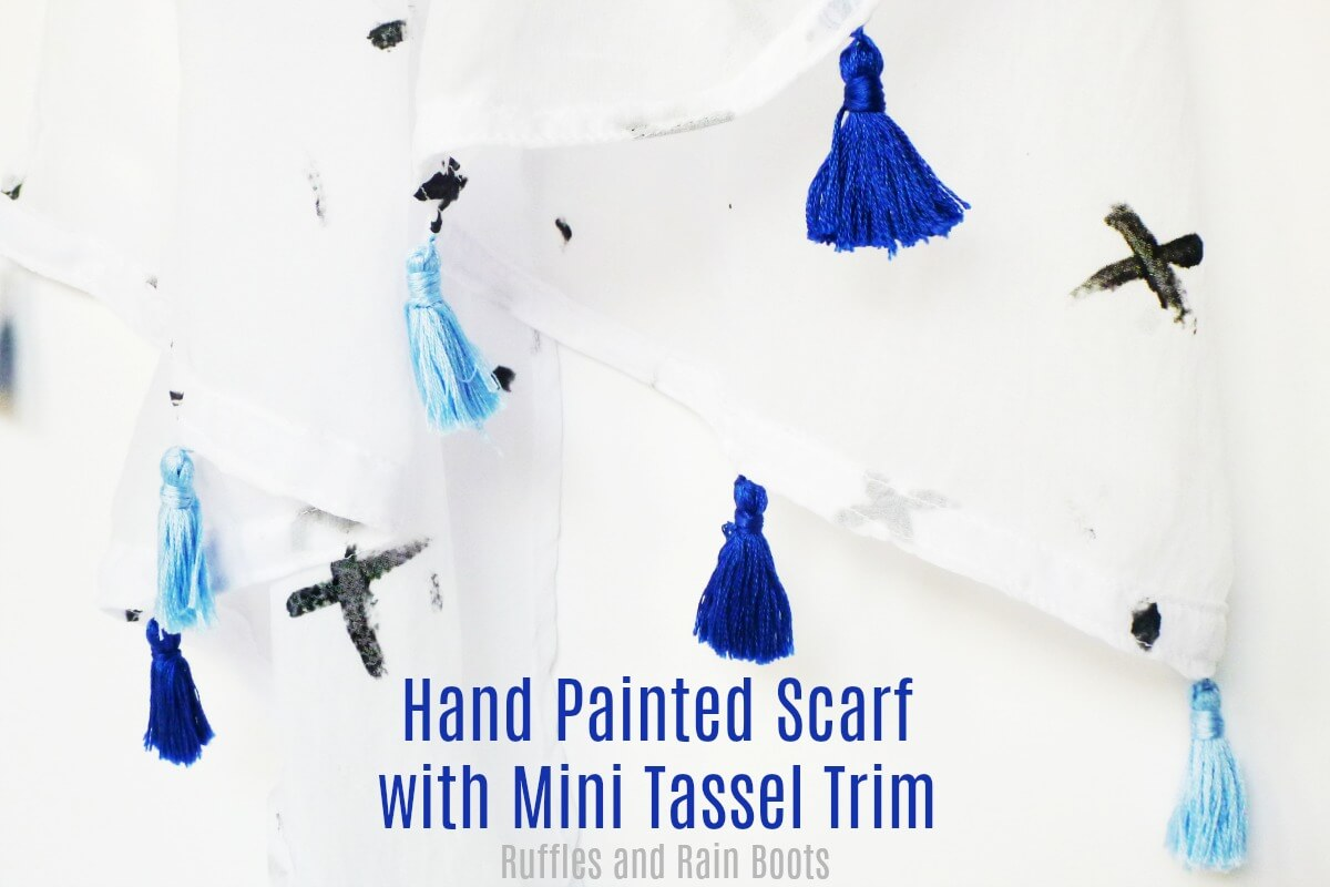 hand painted scarf sewing tutorial