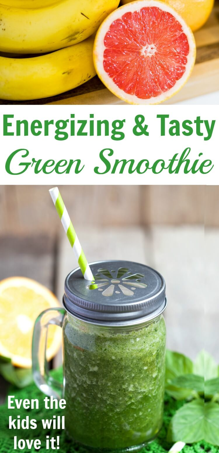 Let the blender do all the work to make this blood orange healthy green smoothie the kids will love. #rufflesandrainboots #greensmoothie #smoothie