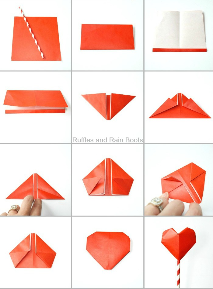 Make this amazing origami heart bouquet for Mother's Day