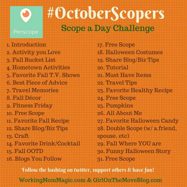 October Scopers Scope a Day Challenge
