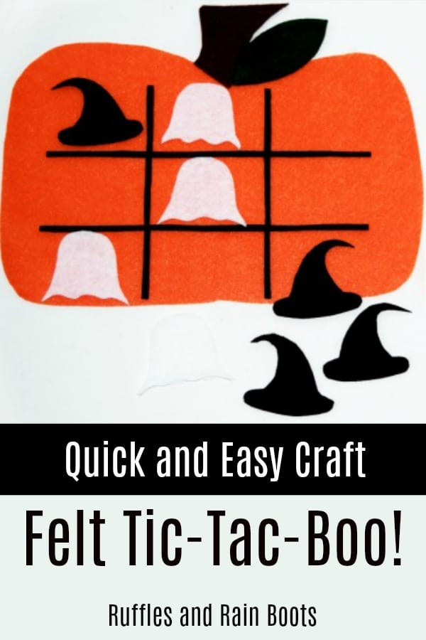 Make this quick and easy Halloween craft from only ONE craft supply you already have on hand. The kids absolutely LOVED this. #halloween #halloweenforkids #halloweencraft #halloweenDIY #diyhalloween #rufflesandrainboots