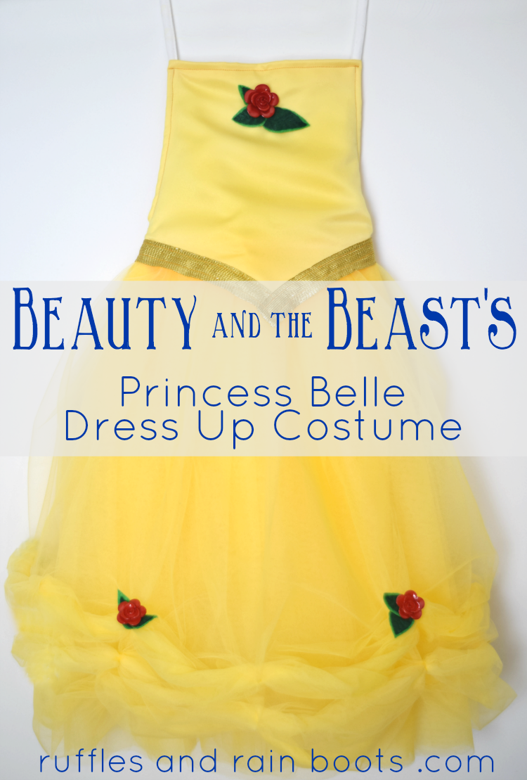 For about $20, you can make this Princess Belle dress up costume inspired by Disney's Beauty and the Beast.