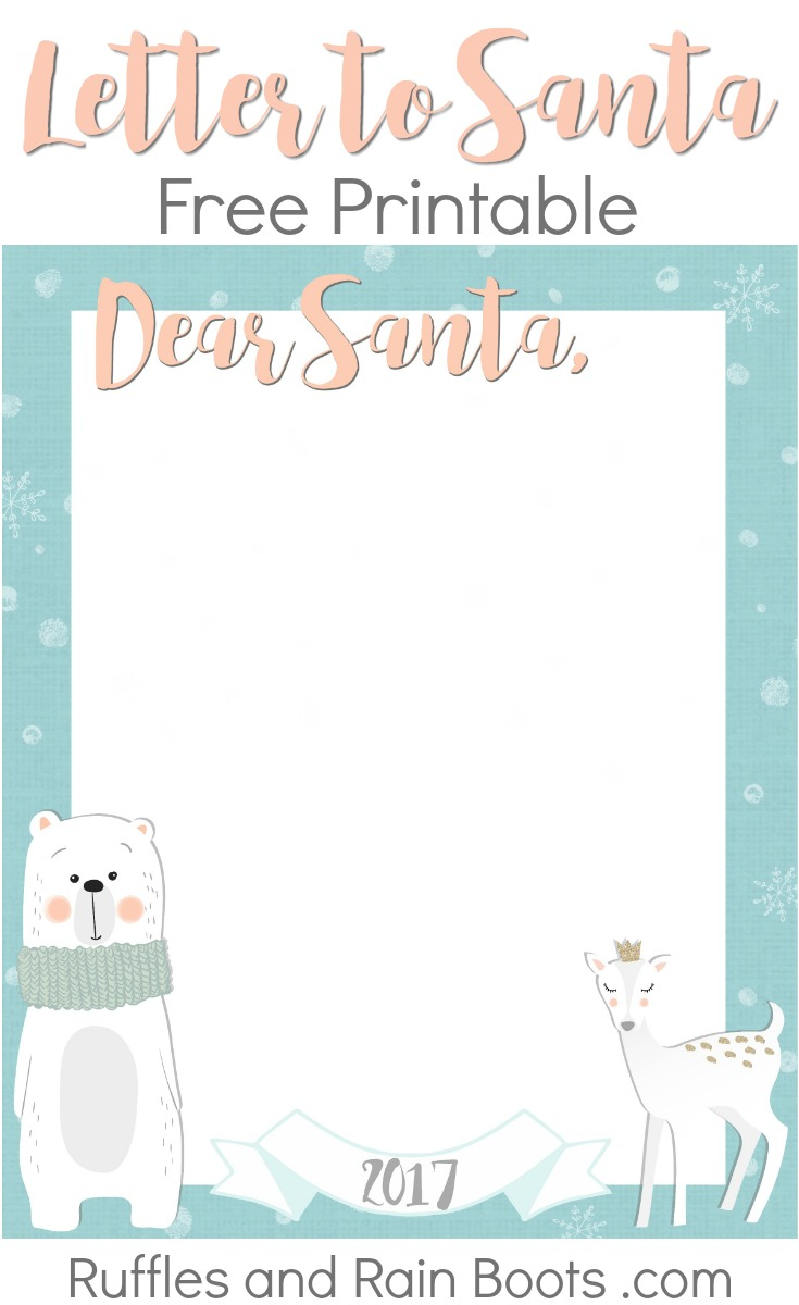 Get this Letter to Santa free printable to add a little premade magic for the holiday season! #Christmas #letterstosanta #northpole #freeprintable