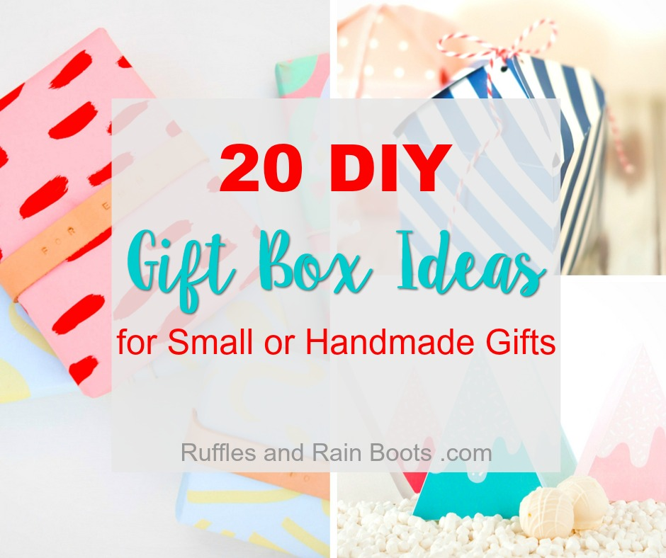 Here are 20 gift box ideas to make your small and handmade gifts even more special!