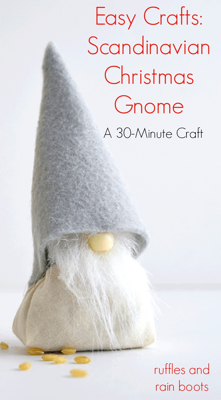 adorable rice gnome for Christmas or Swedish display on white background with rice