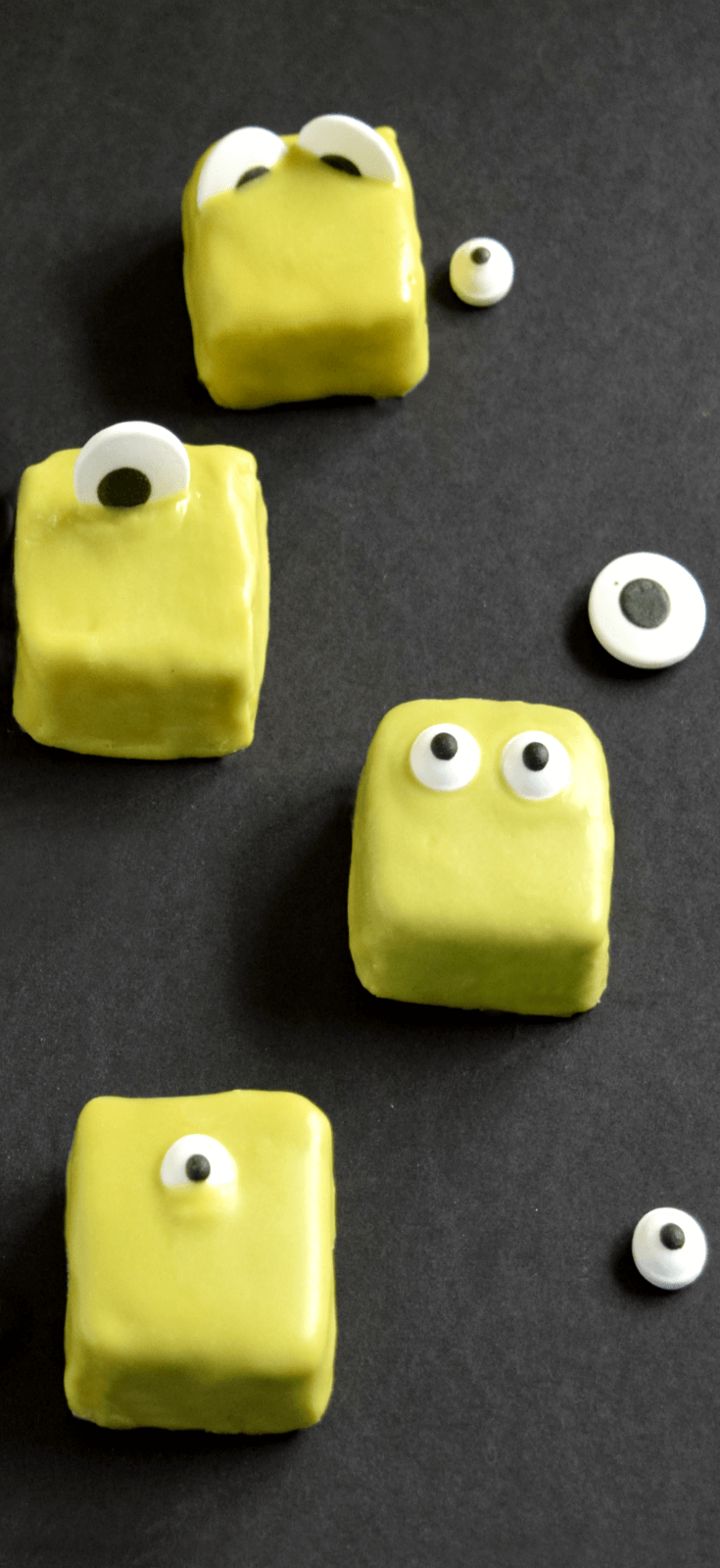 Bite Into a Mini Monster Cake for Halloween or Monster Party - So easy to make and ready in less than an hour!