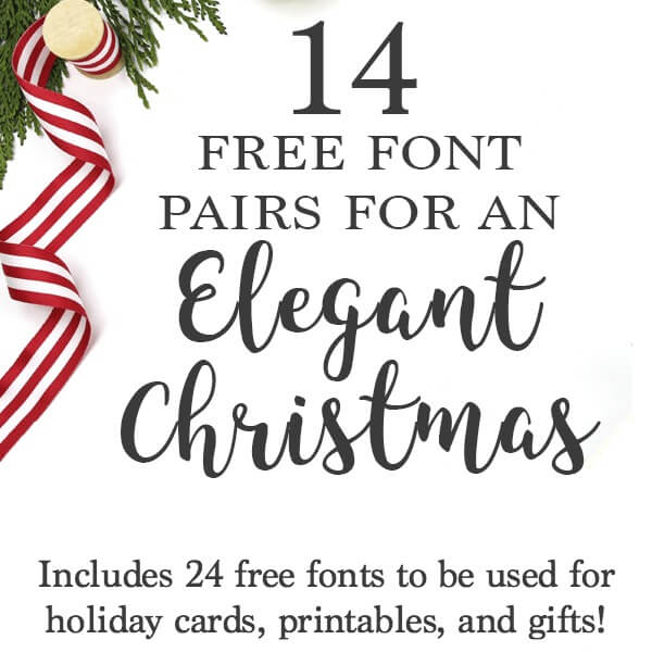 Free Fonts for Christmas Crafts