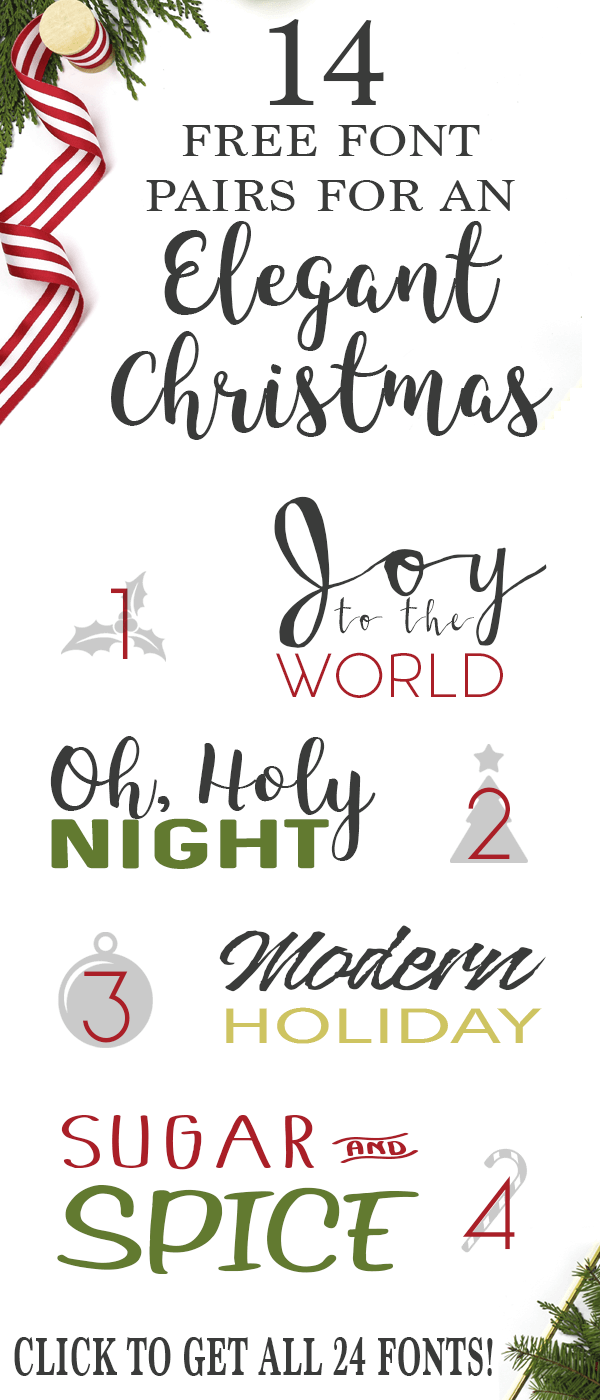 Free Fonts for Christmas Cards and Gifts