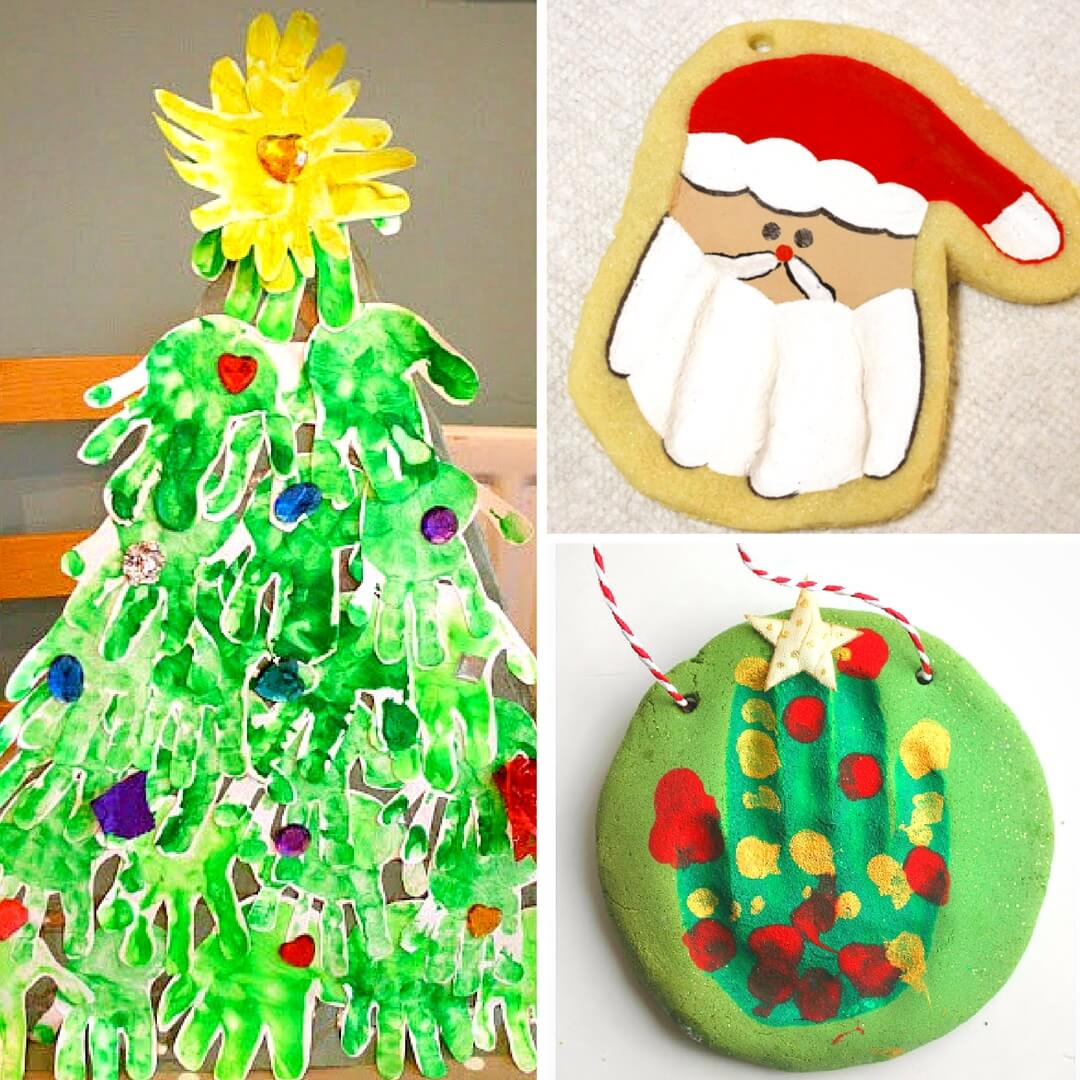 More than 50 handprint Christmas crafts for keepsakes and gift giving