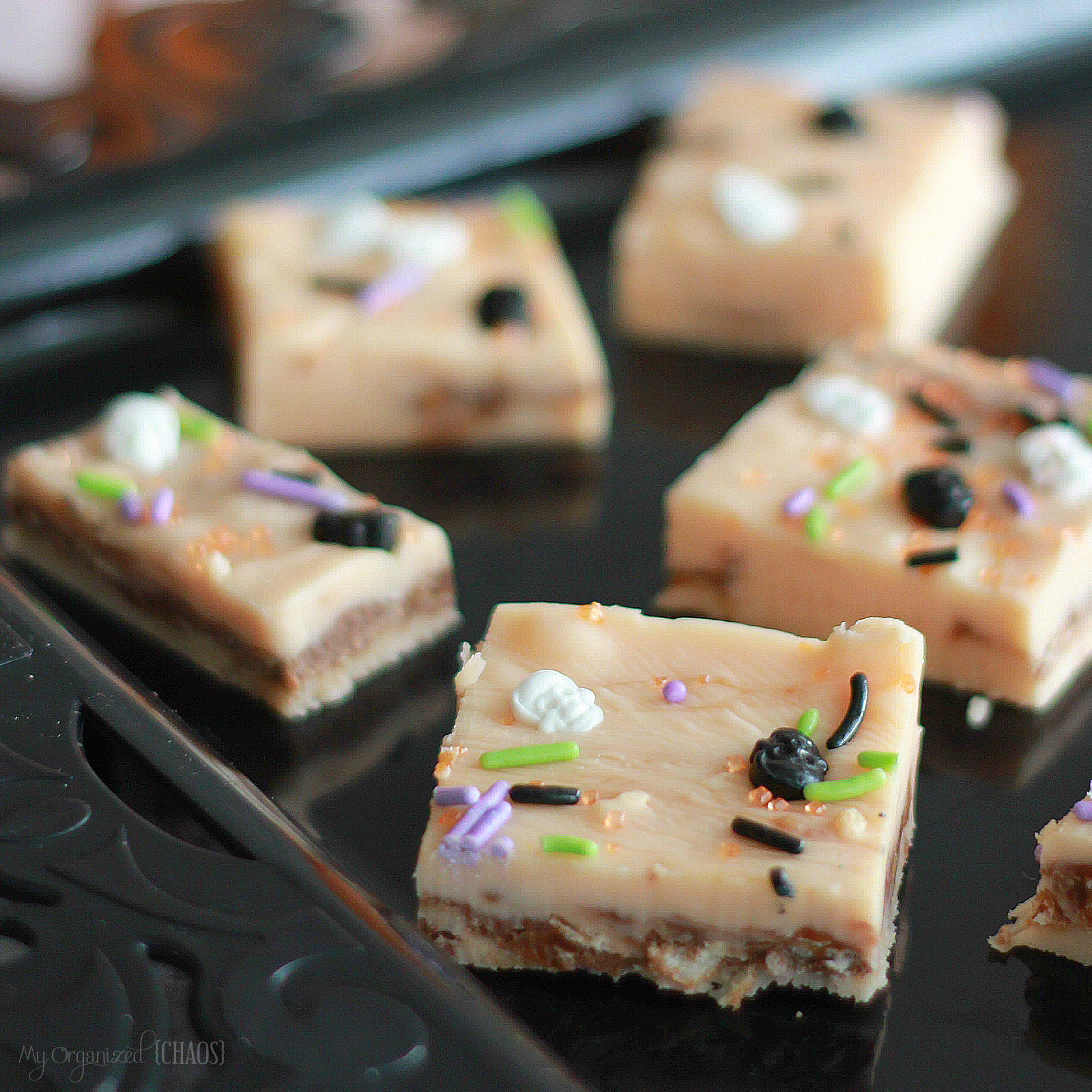 This easy Halloween fudge is just one of the 15 amazing and tasty Halloween Desserts to WOW your spooky socks off!