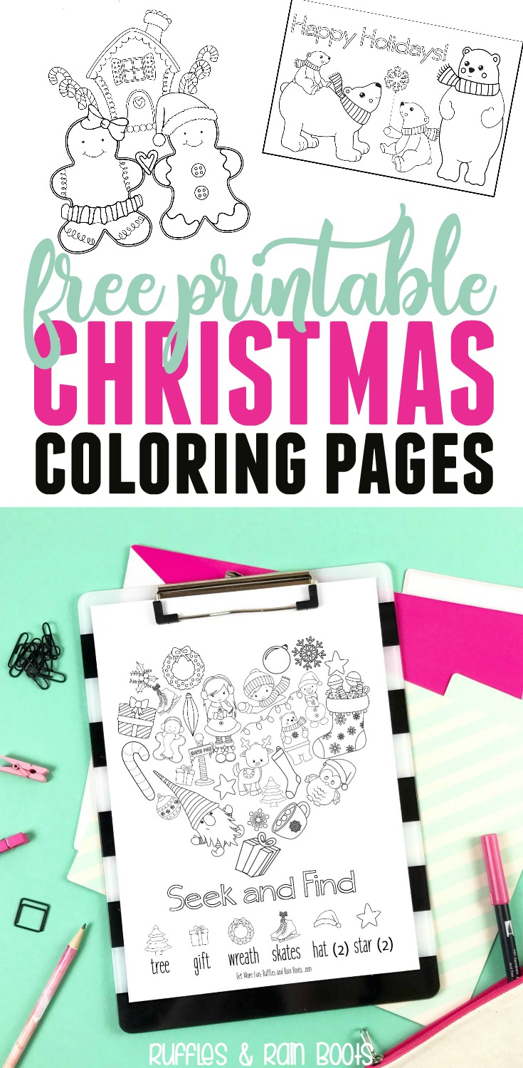 Get this free Christmas printables pack today! The entire printable pack includes gifts, advents, service ideas, and so much more! #Christmas #printable #freecoloring #coloringpages #kidscoloring