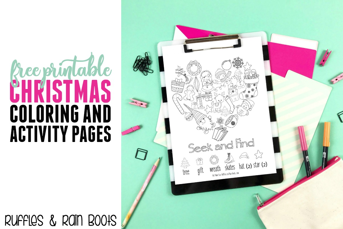 Get this free Christmas printable pack today! The entire printable pack includes gifts, advents, service ideas, and so much more! #Christmas #printable #freecoloring #coloringpages #kidscoloring