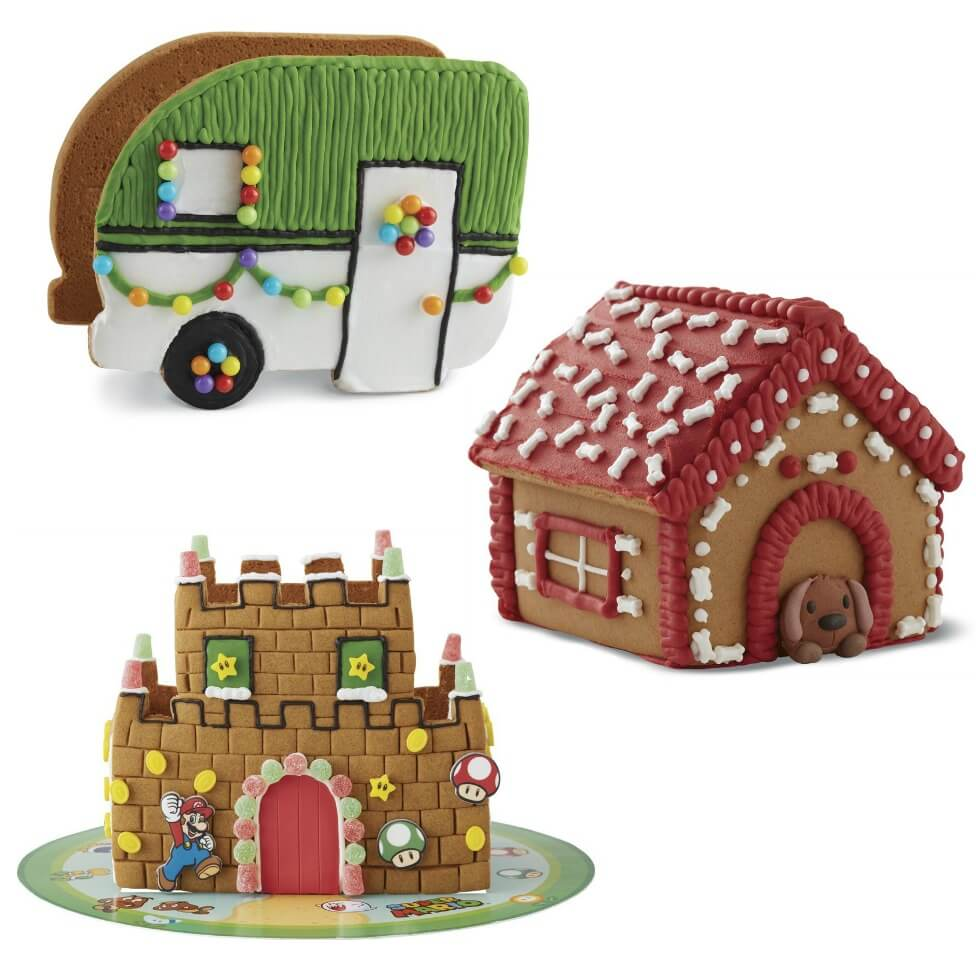 These fun and themed gingerbread houses for gamers dog lovers hipsters and Disney fans are sure to please