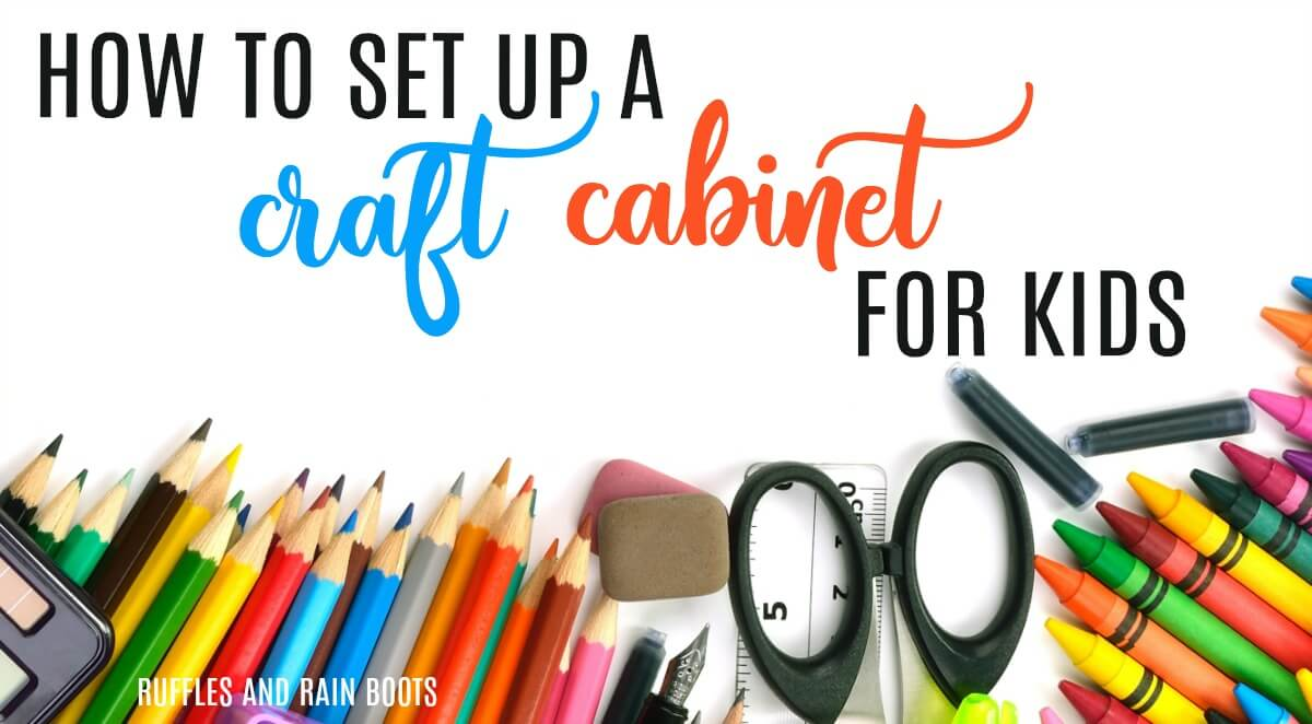Learn how to set up a craft kit for kids without wasting money on craft supplies