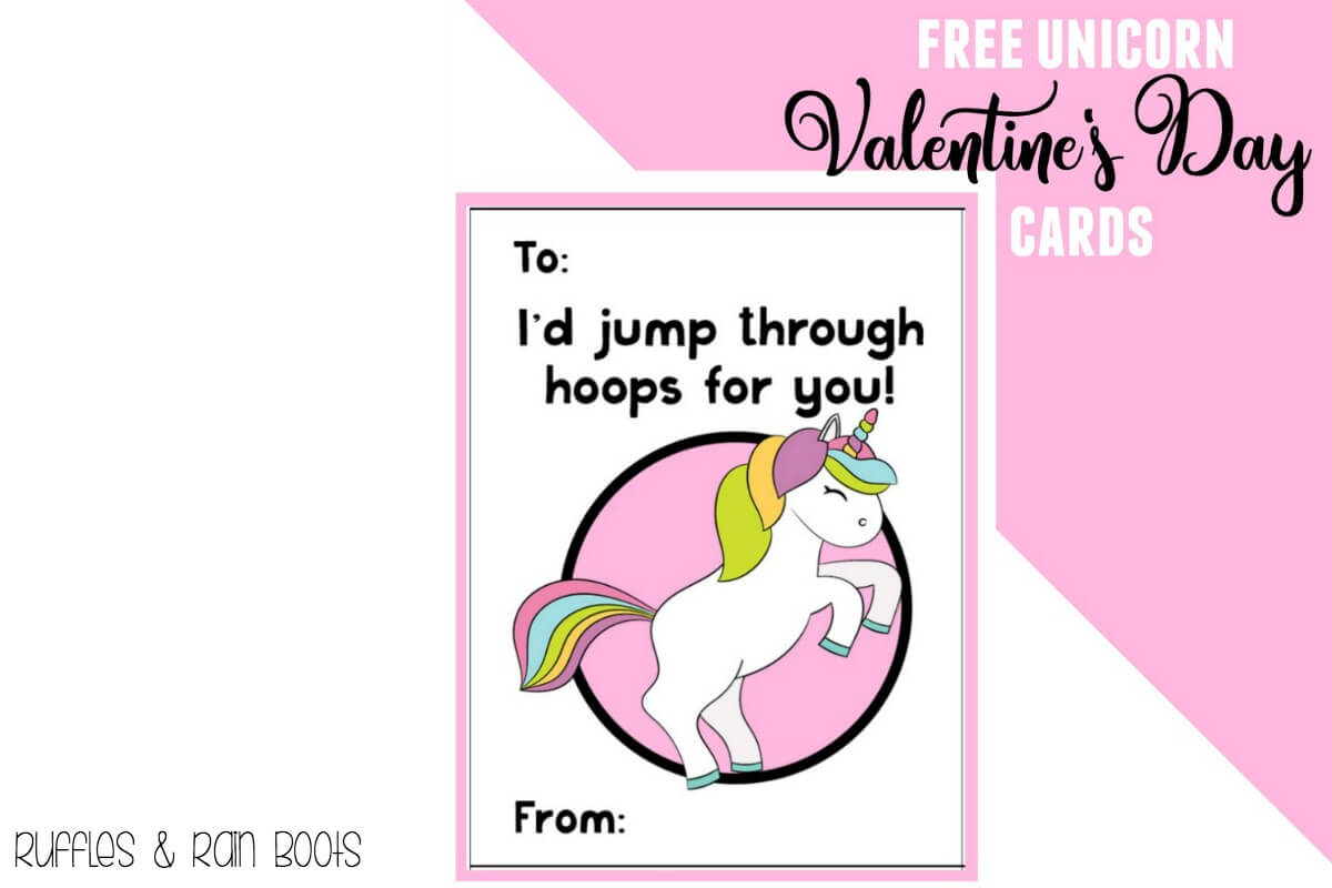 Magical Free Unicorn Valentine's Day Cards for Kids and Classroom