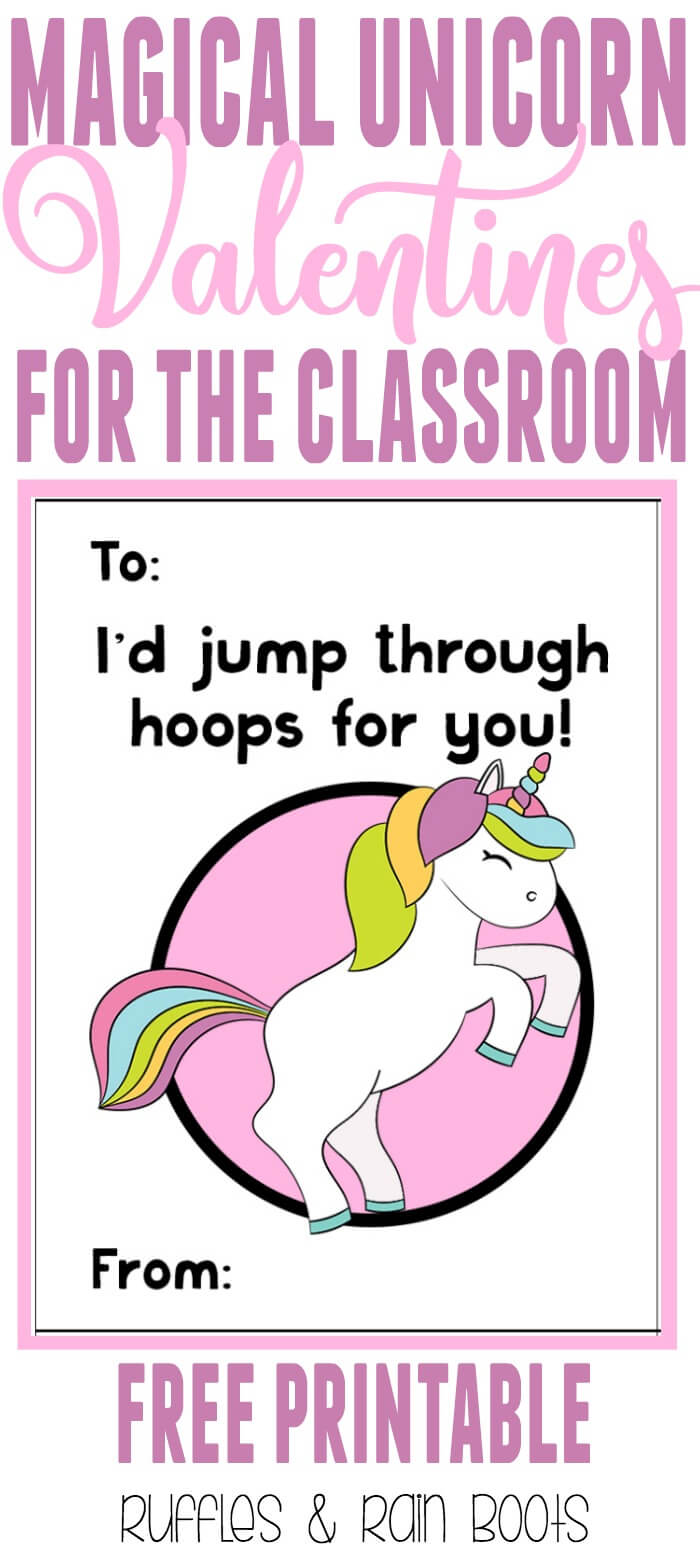 Get these oh, so adorable FREE unicorn Valentine's Day cards for kids printable. #ValentinesDay #valentines #valentinesforkids #valentinesdayards #unicorns #unicorn