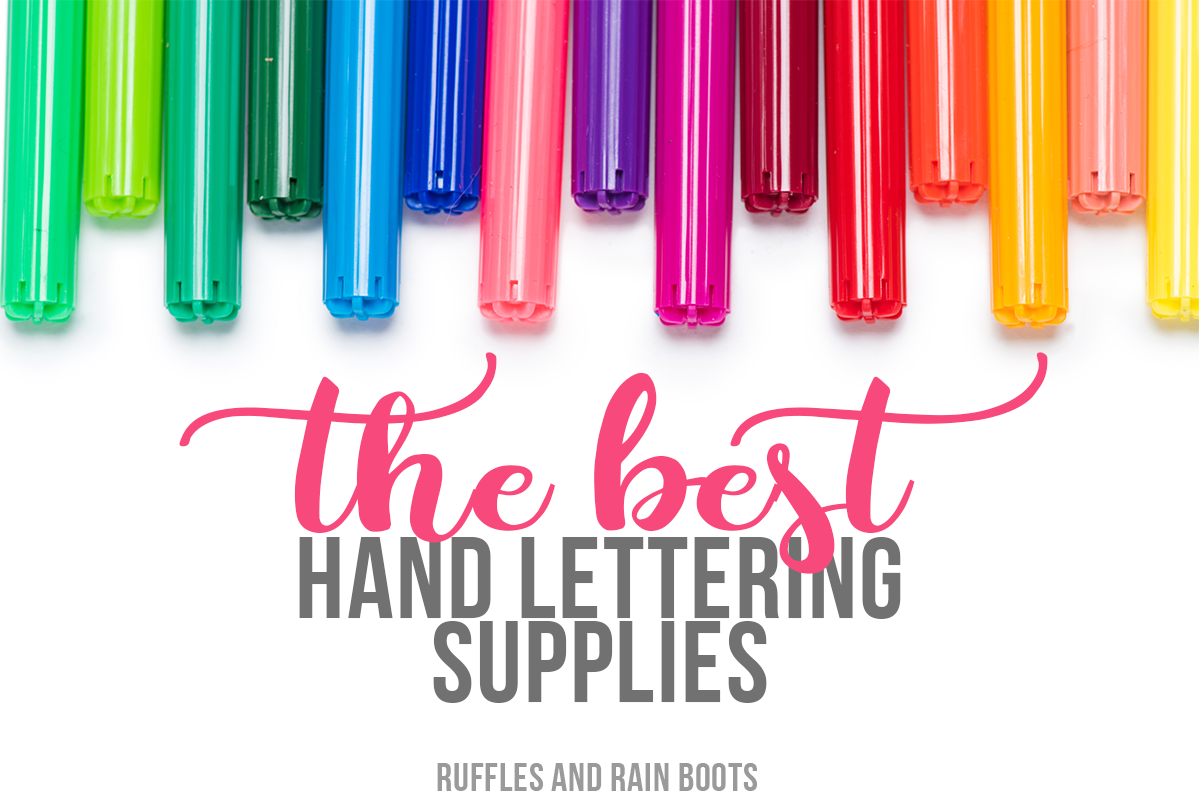 The Best Hand Lettering Supplies to Get Started