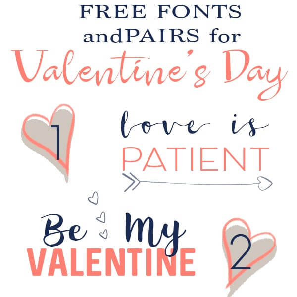 Get the best free fonts for Valentine's Day Wedding Invitations and Announcements