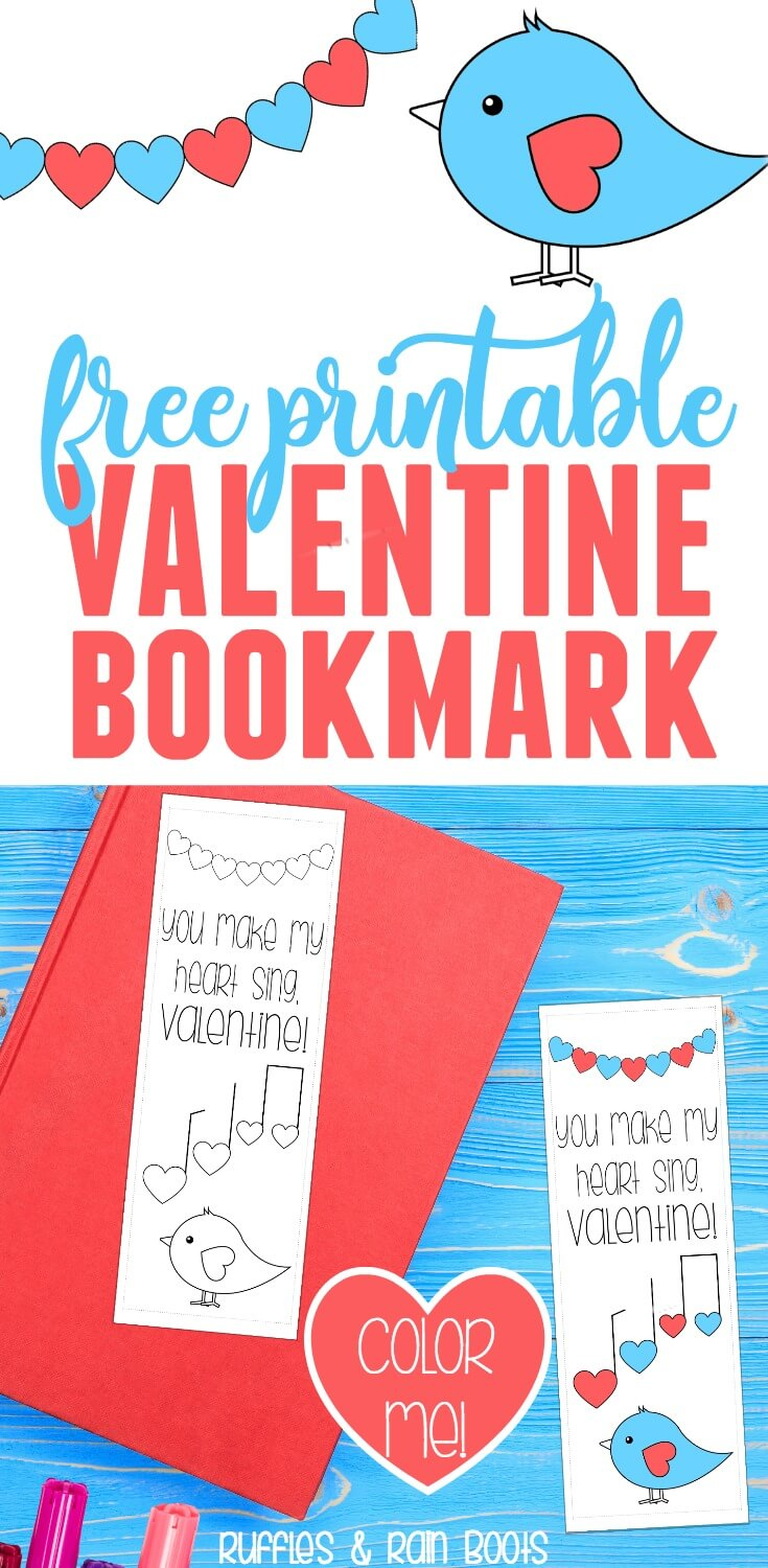 Get this Free Valentine Printable bookmark coloring page for kids and classroom Valentines #valentinesday #valentineprintable #printable #valentine #classroomValentine #freevalentines