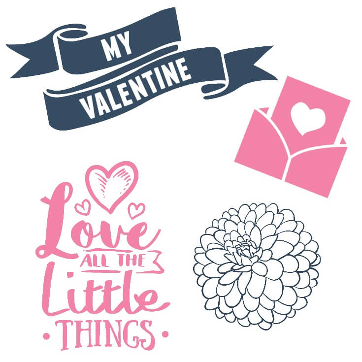 Free SVG files and Graphics for Valentines Day and weddings