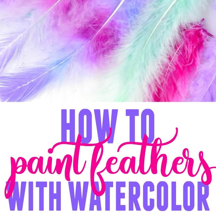 How to Dye Feathers – Paint Feathers with Watercolor