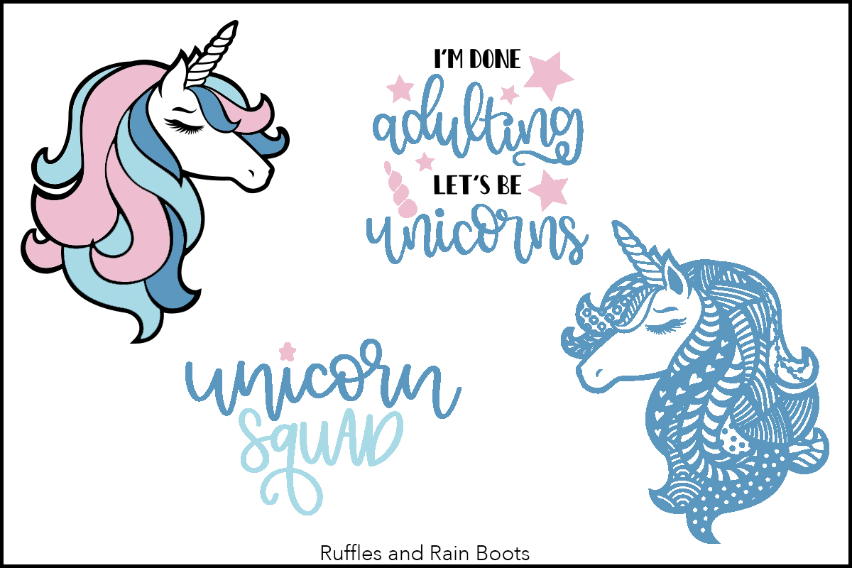 free unicorn cut files and fonts