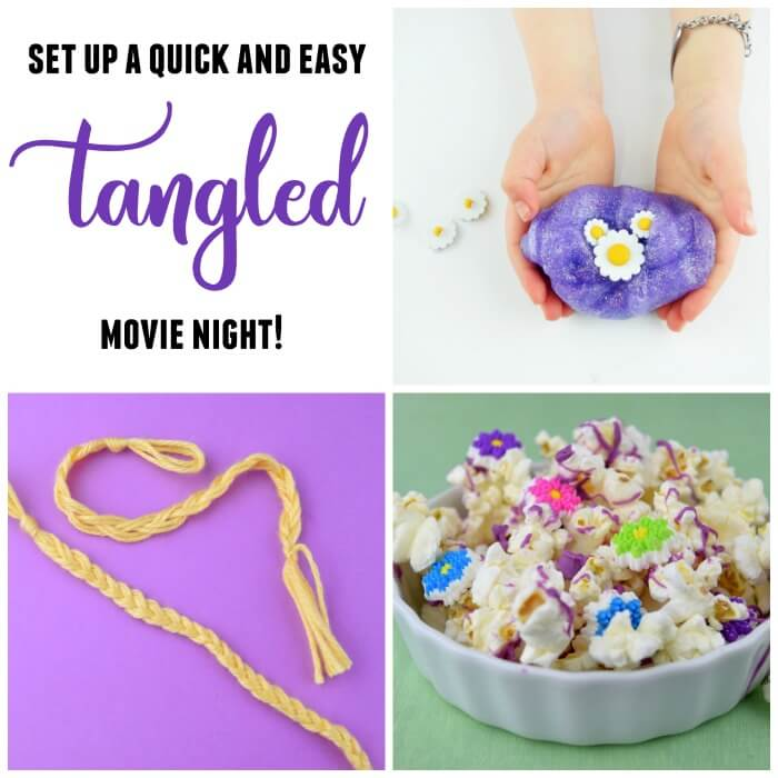 This quick and easy Tangled Movie Night for Rapunzel lovers will be magical fun