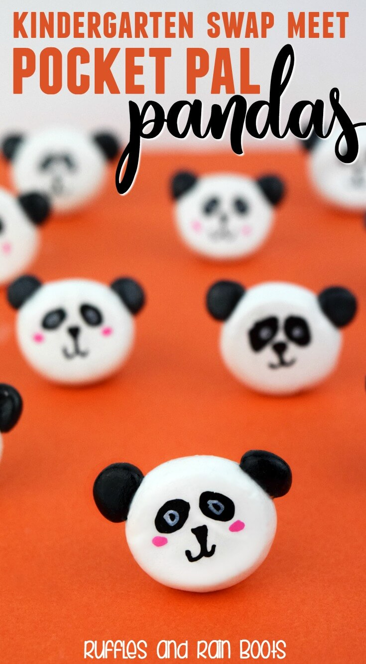 Make these cute, kawaii panda pocket pals - this craft is perfect for young kids who want to work with polymer clay on a simple, quick craft. #polymerclay #panda #kindergarten