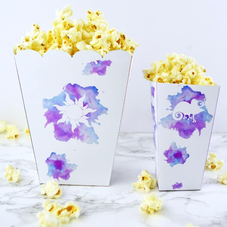 Tangled Popcorn Box Printable