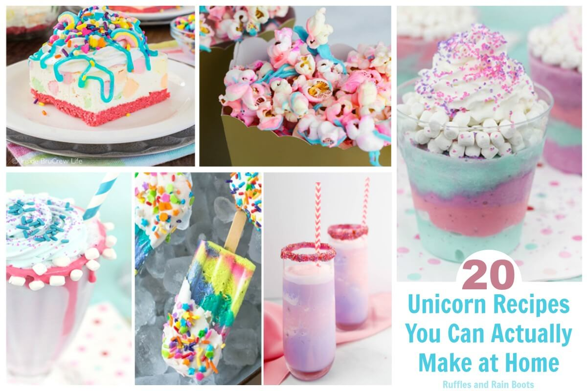 Make one (or all) of these 20 of the best unicorn recipes you can actually make yourself! They're perfect for unicorn lovers, birthdays, or parties.