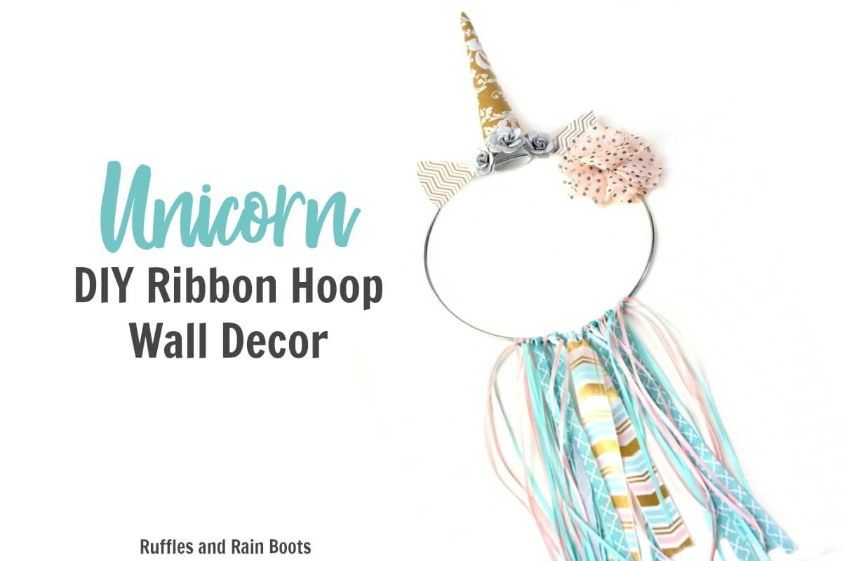 DIY Unicorn Wall Decor _ Unicorn Ribbon Ring