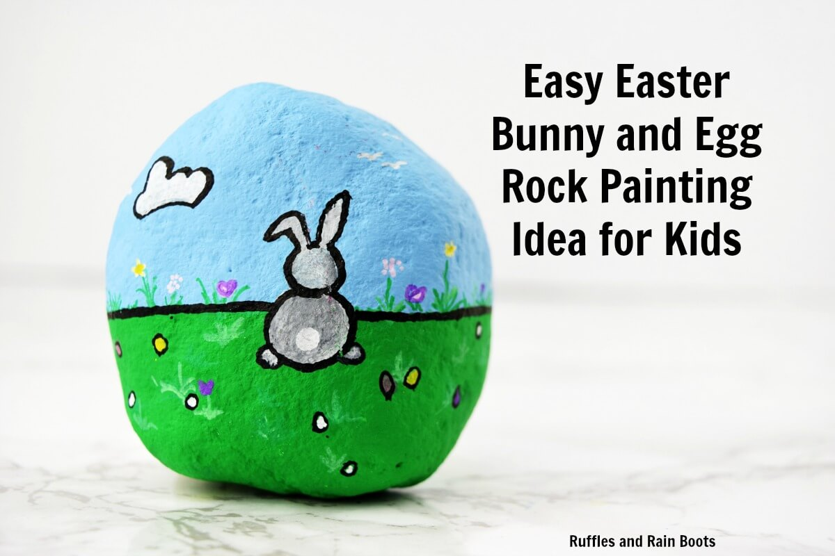 Rock Painting Bunny Craft for Kids and Adults