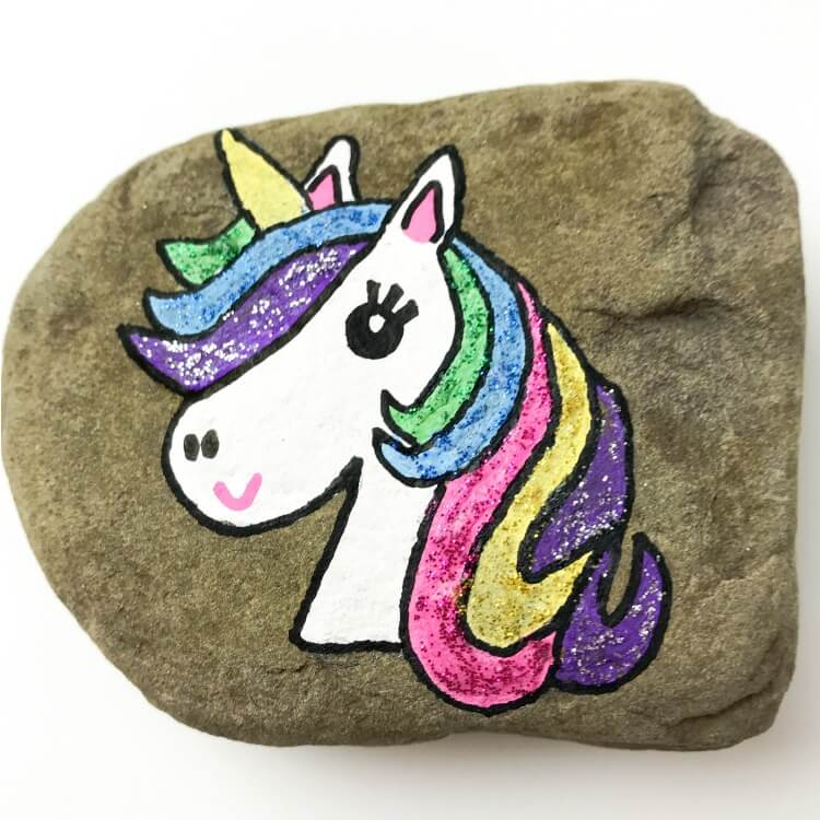 Make This Wonderful Unicorn Rock Painting Idea in Minutes