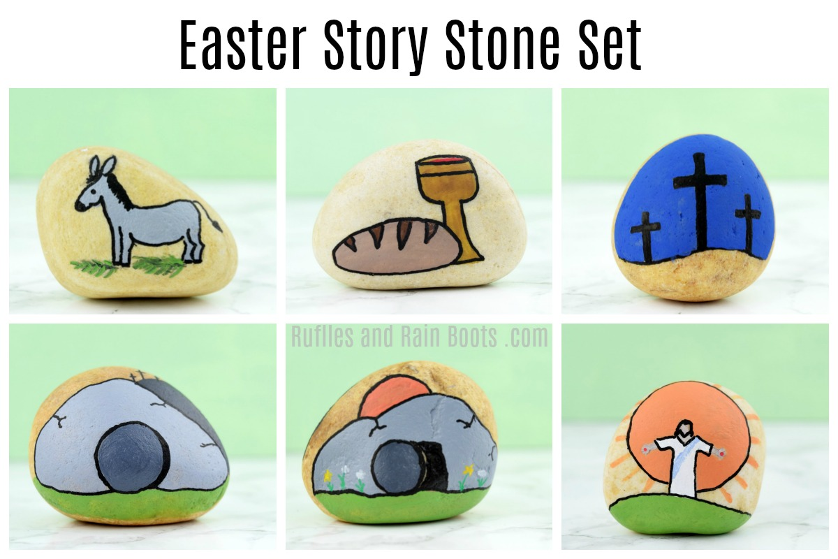 You can make this easy Easter story stone set in minutes for a wonderful way to teach and tell the story of Easter