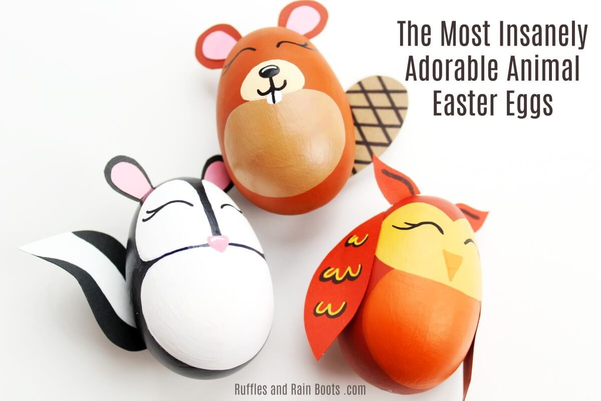 woodland animal Easter eggs craft
