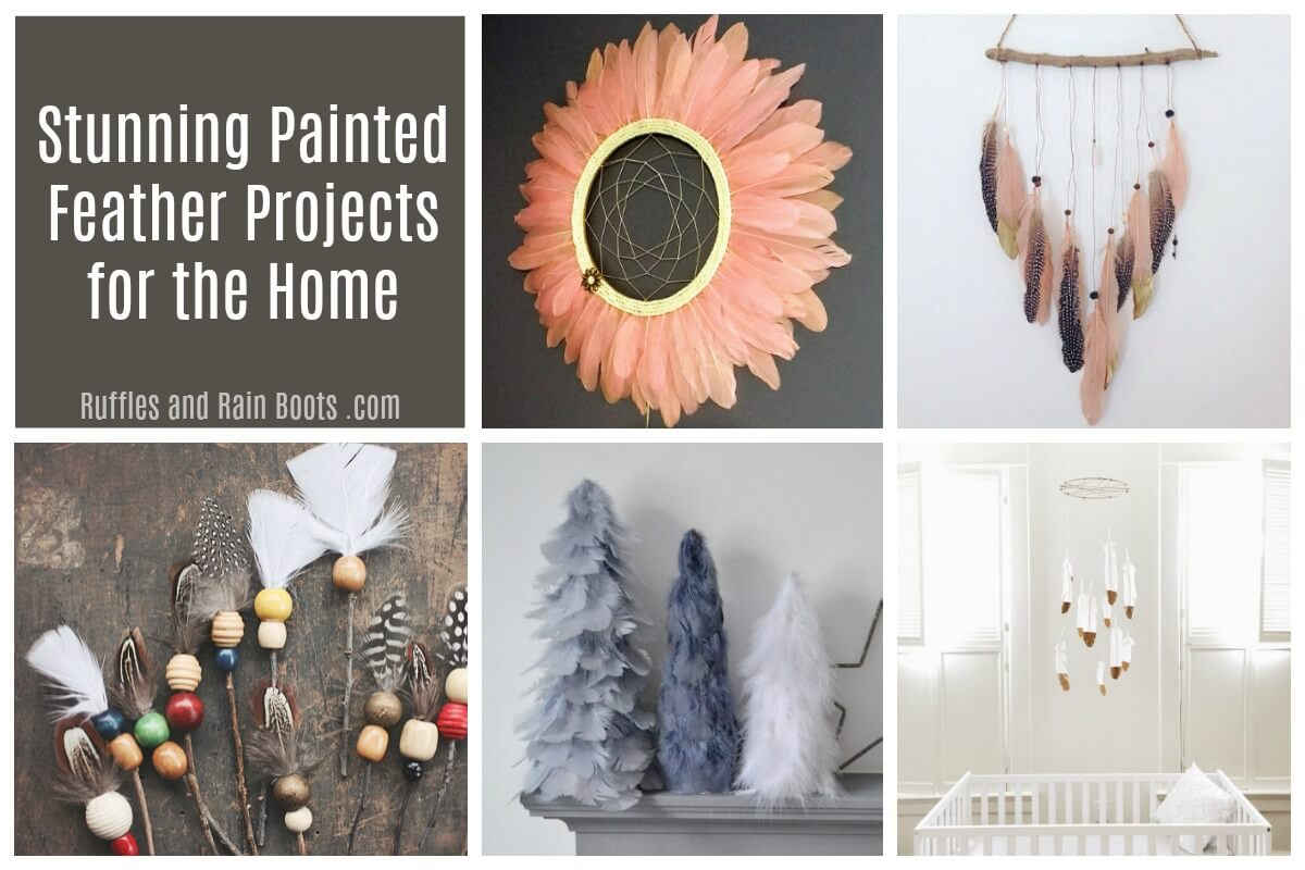 Stunning Painted Feather Projects for the Home DIY