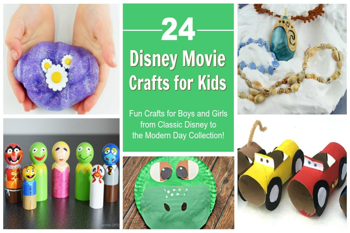 24 of the Cutest Disney Movie Crafts for Family Movie Night