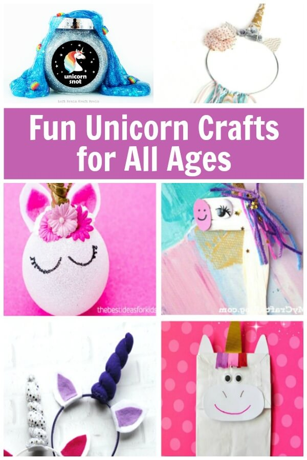These are the most fun DIY unicorn crafts for unicorn lovers of all ages. I love the variety! #unicorns #unicorncraft #unicornDIY #DIYunicorn #unicornlover #rufflesandrainboots