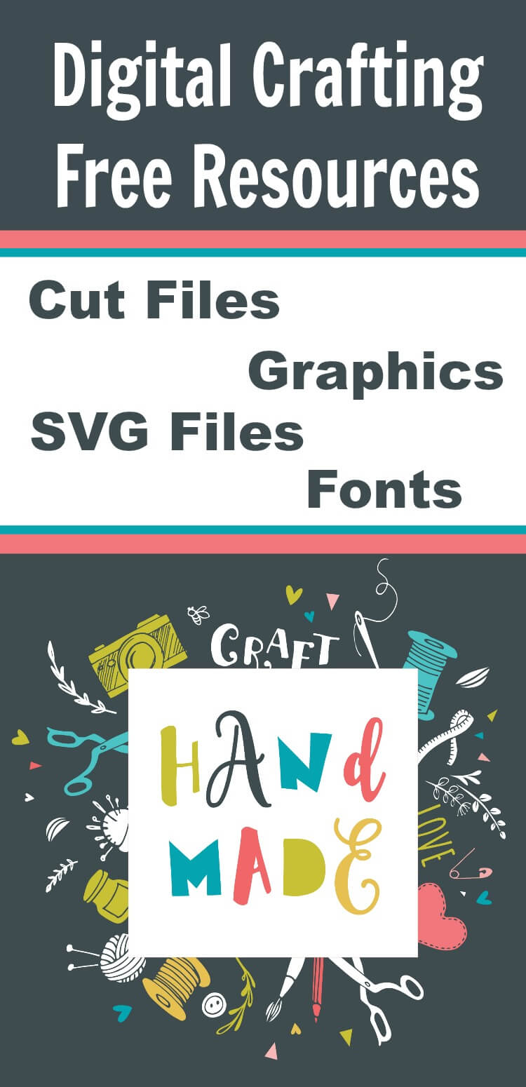 Free Digital Craft Supplies Free SVG Files and Free Fonts for Handmade Gifts and Home Decor #digitalcraft #freesvgfiles #freefonts #freegraphics #cricut #silhouette #cuttingfiles #rufflesandrainboots